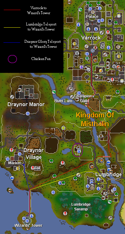 Route to the Wizard Tower