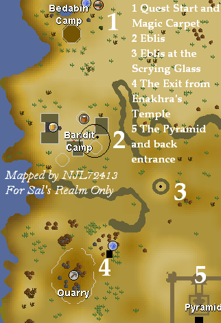 Desert Treasure - Map of Eblis' location