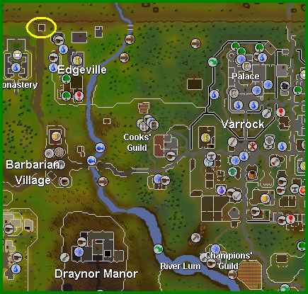Oziach is located west of Edgeville