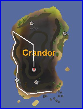A map of crandor isle