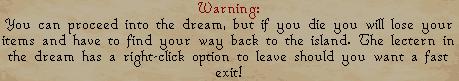 Dream Mentor - Warning