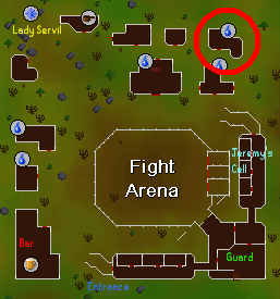 Fight Arena - Search this house for some khazard armor