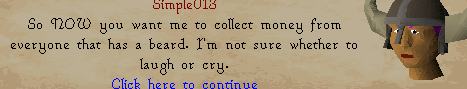 The Fremennik Isles - So now you want me to collect money from anyone that has a beard