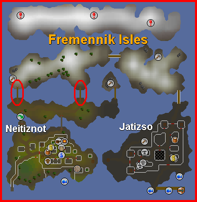 The Fremennik Isles - A map of the isles