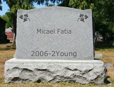 Micael Fatia gravestone