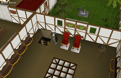 The trapdoor now contains a ladder