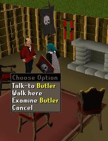 Talk to butler