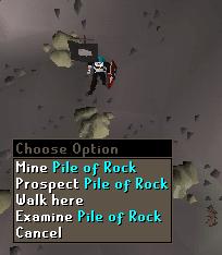 Mine Oile of rock