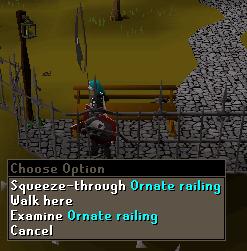 Squeeze-Through Ornate Railing