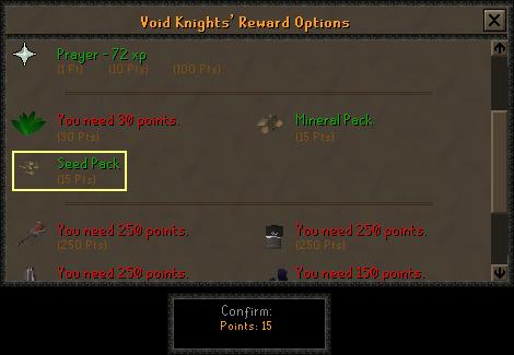 Void Kinght's Rewar Options