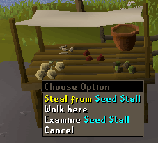 Steal from seed stall