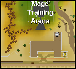 Duel arena burn area