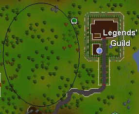 Legends' Guild area map