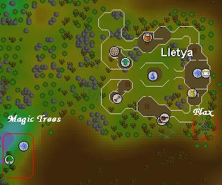 Lletya area map