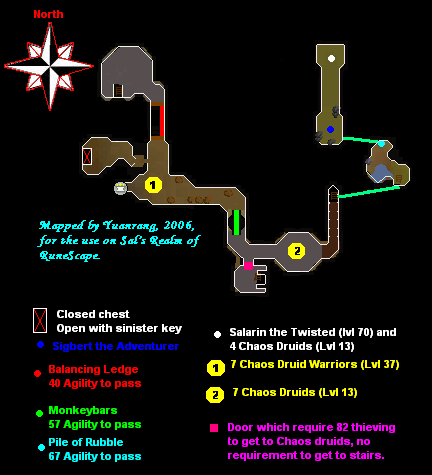 Yanille dungeon map