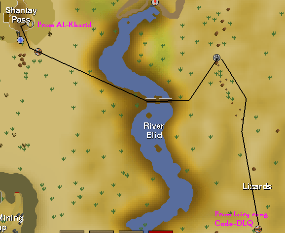 Desert hunting area map