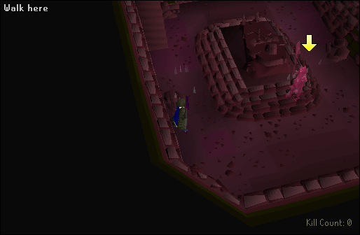 Inside the barrows minigame