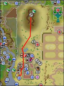 Map to Al Kharid mine