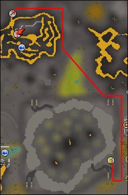 Map to wilderness mine