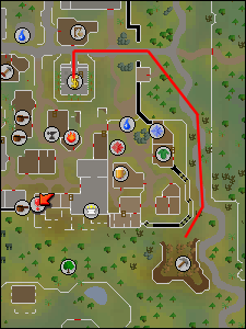 Route to Varrock east mine