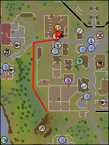 Route to Varrock west mine