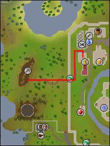 Map to the west Falador mine