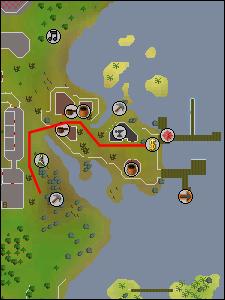 Map to the Port Khazard mine
