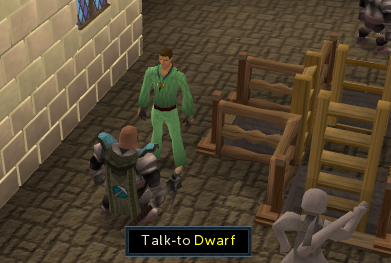 Talk to the dwarf outside the Miner's Guide to learn about the Mining Cape of Achievement