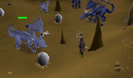Ranging blue dragons