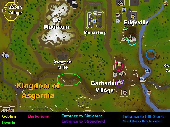 Falador/Barbarian  training areas