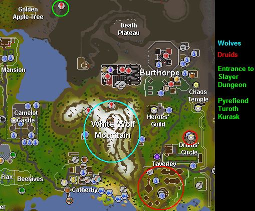 White Wolf Mt/Fremennik training areas