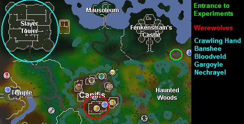 Canifis training areas