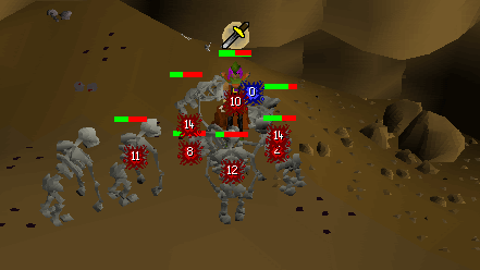 Training on the skeletons