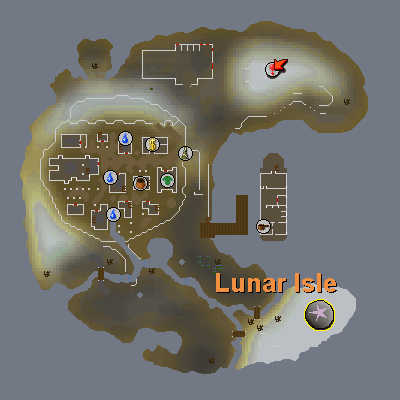 Astral Runecrafting Altar map