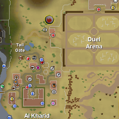 Fire Runecrafting Altar map