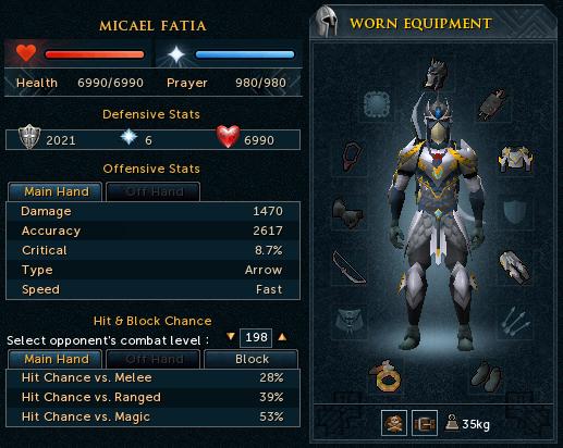 Ranged armour