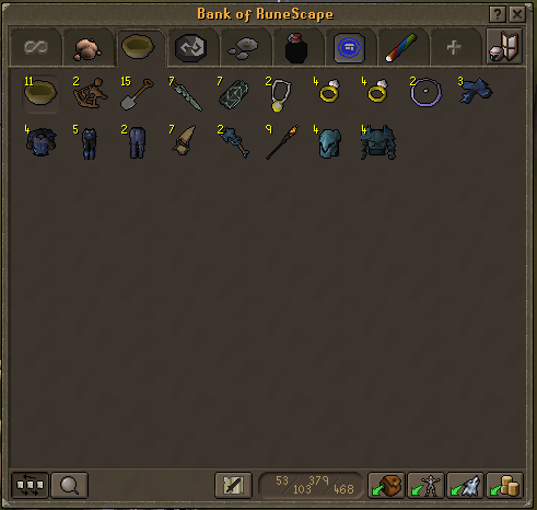 Treasure trail tab