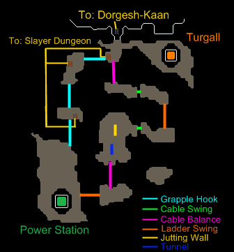 A map of the Dorgesh-Kaan agility course