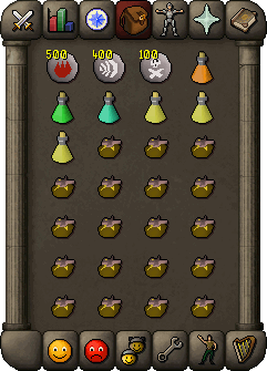 Suggested mage inventory