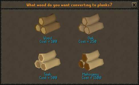 What wood do you want converting into planks?