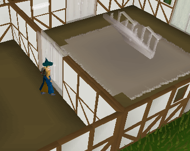 Building stairs in a skill hall