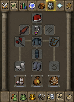 Worn Equipment interface