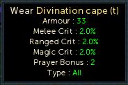 Divination cape (t) stats