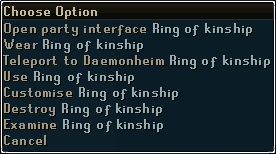 Ring of Kinship options