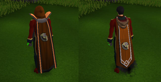 The two Dungeoneering capes.