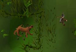 Capturing a pitfall creature
