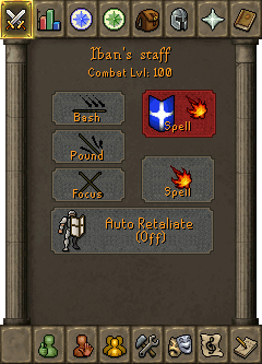 The staff attack interface
