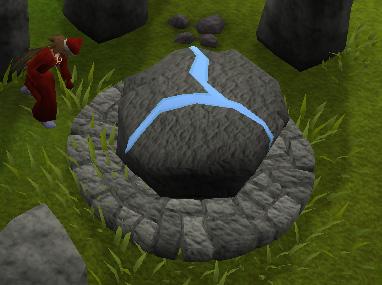 Using an Air Talisman at the Air Altar ruins