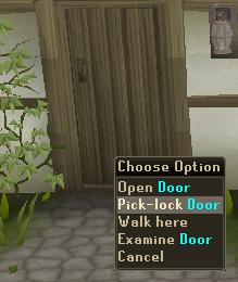 Pick-lock Door