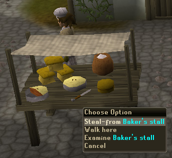 Steal-from Baker's Stall